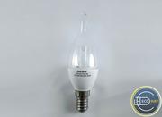 LED светодиодная лампа Свеча CA37 E14 6W Eco-Svet (Лед)